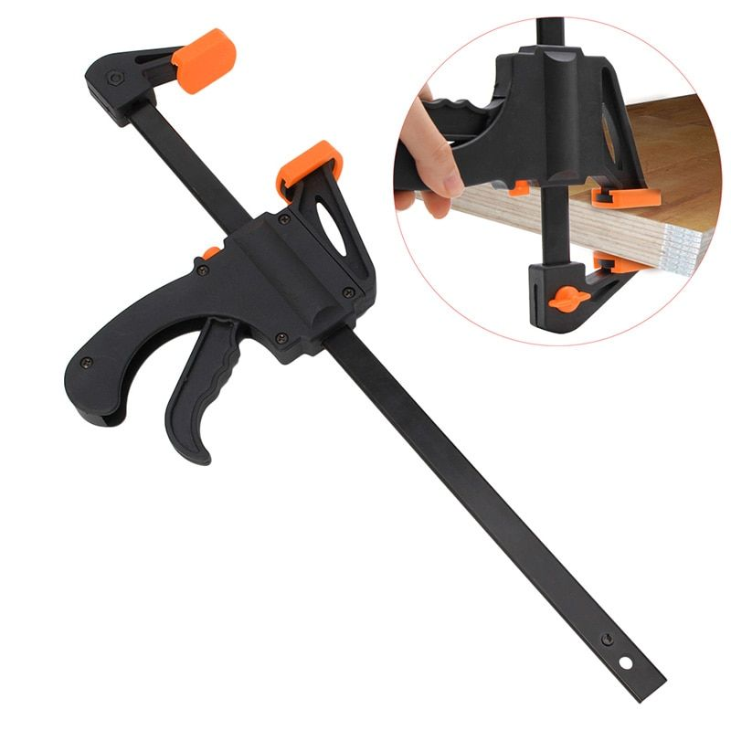 12 Inch Wood-Working Bar Clamp Quick Ratchet Release Speed Squeeze DIY Hand Tool -Y103