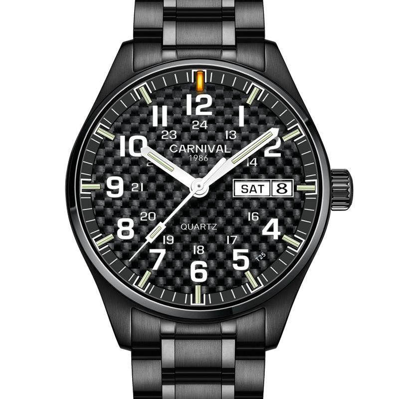 Carnival Luxury Brand Watch Men Quartz Men Watches Tritium Light Luminous Watch Male Waterproof Military reloj hombre C8638G-12
