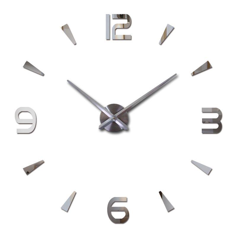 2019 nouvelle horloge murale quartz montre reloj de pared design moderne grand décoratif horloges Europe acrylique autocollants salon klok