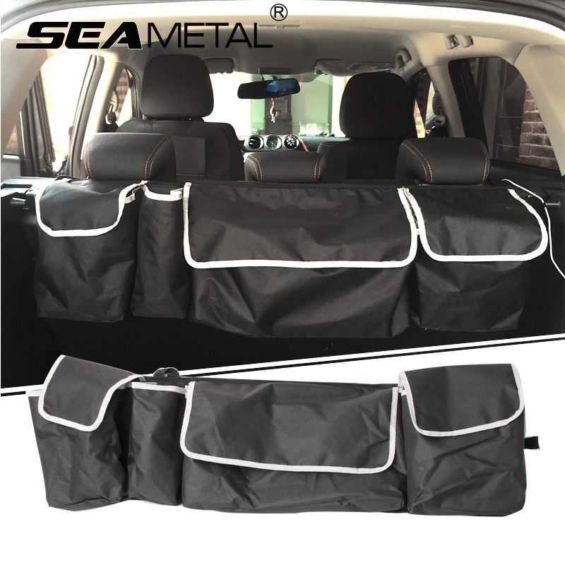 Car Trunk Organizer Bag SUV Trunk Storage Box Folding Back Seat Bags Rear Tail In Cars Stowing Tidying Automobile Accessories