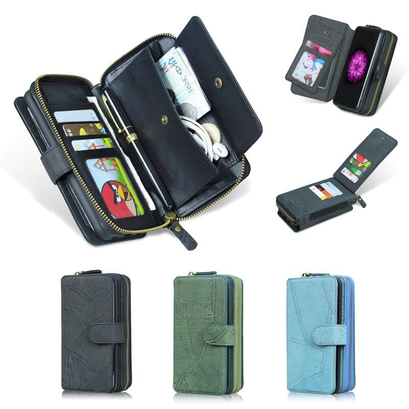 Pour LG G6 étui MEGSHI véritable luxe 2 en 1 détachable PU cuir Flip portefeuille étui pour LG G5 étui G7 G8 étui de téléphone à lanière