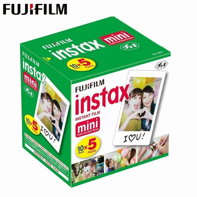 Original Fuji Fujifilm Instax Mini 8 Film White Edge Photo Papers For Mini 9 7s 90 25 55 Share SP-1 Instant Camera 50 sheets