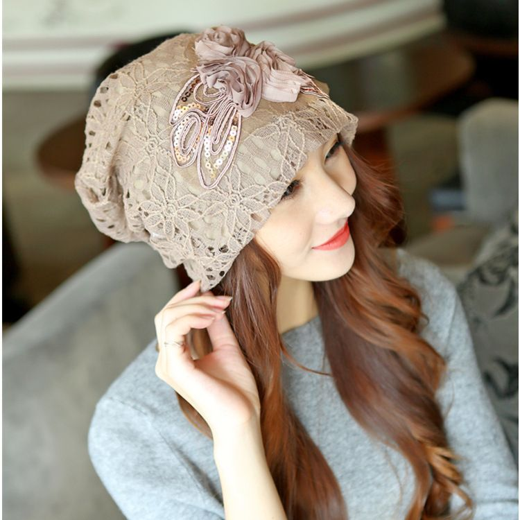 2018 Fashion Beanies Knitted Winter Hat Warm Ski Caps Winter Hats For Women Ladies Casual Brand Skullies Beanie Lace Cap