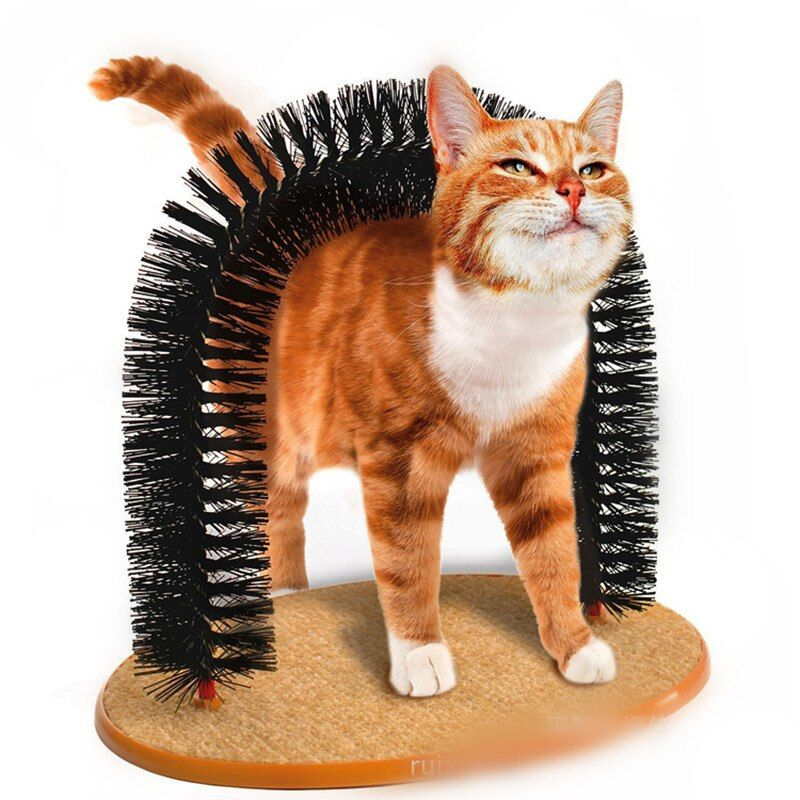 New <font><b>Arrival</b></font> Arch Pet Cat Self Groomer With Round Fleece Base Cat Toy Brush Toys For Pets Scratching catching Devices Quick Clean