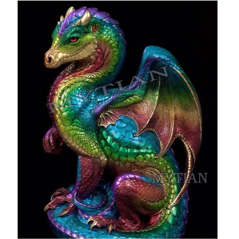 Colorful dragon DIY diamond painting 5D diamond mosaic pattern cross stitch full drill resin square/round rhinestones home decor