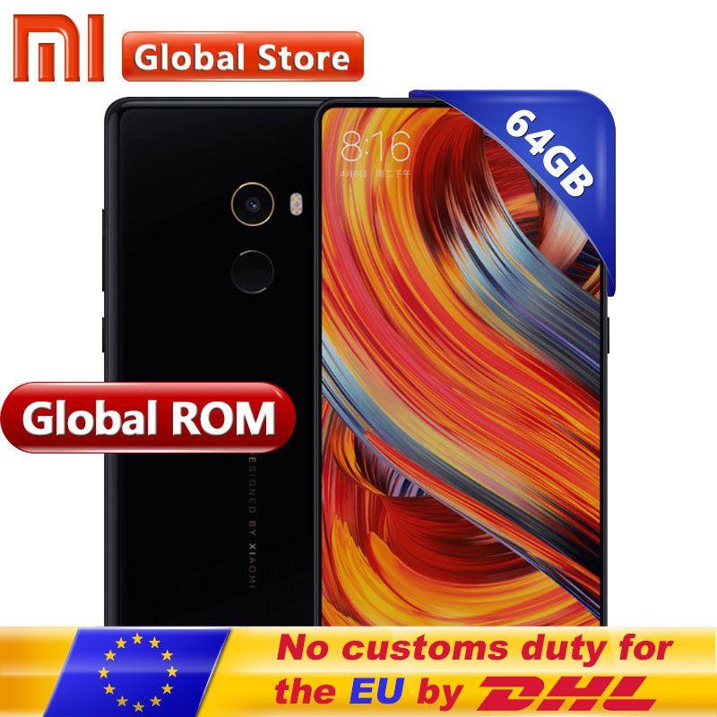 Original Xiaomi Mi MIX 2 MIX2 6GB 64GB smartphone telephone Phone Snapdragon 835 Octa Core 5.99