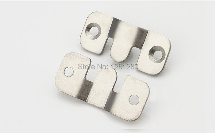 free shipping S style wall bracket Furniture fitting bed corner hanger buckle sheet mirror frame hook DIY picture hardware part