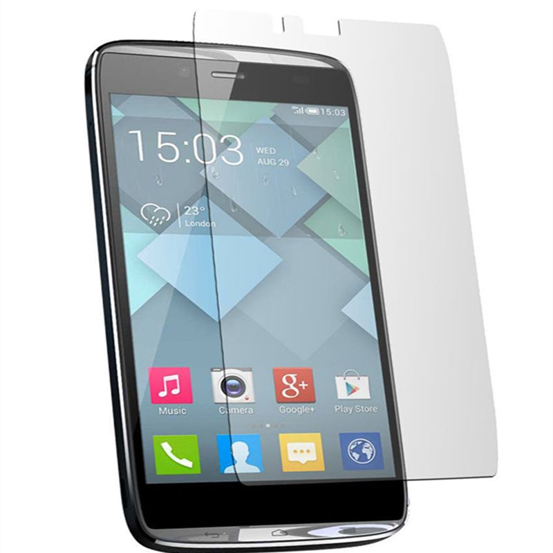 5pcs For Alcatel 6032X Transparent Clear LCD Screen Protector For Alcatel One Touch Idol Alpha Film (5x film+5x cloth)