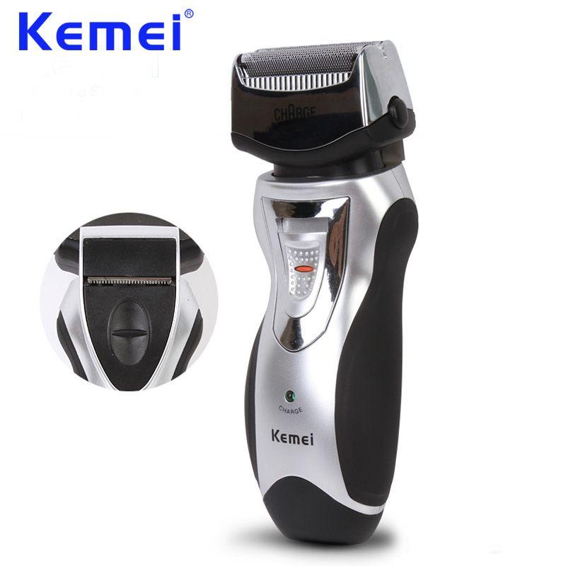 KEMEI 2016 Rechargeable électrique rasoir cheveux tondeuse à barbe Double bord rasoir hommes toiletteur barbeador EU prise KM-8007