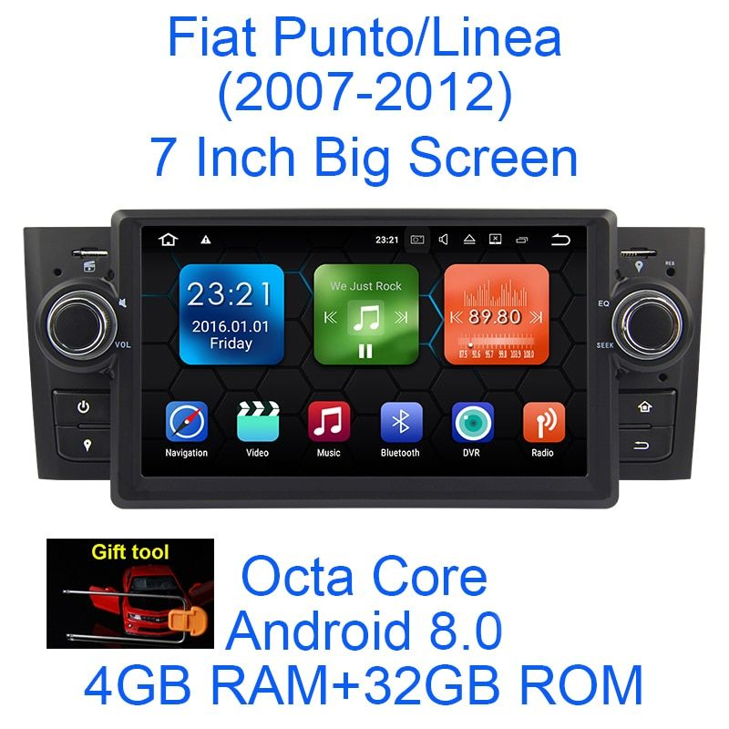 Android 8.0 Octa Core 4G RAM 32G ROM GPS Navigation 7