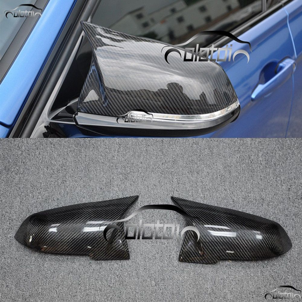 Mirror Cover M3 Style Replace Caps Carbon Fiber Replacement For BMW F20 F21 F22 F23 F30 F32 X1 E84 M240i