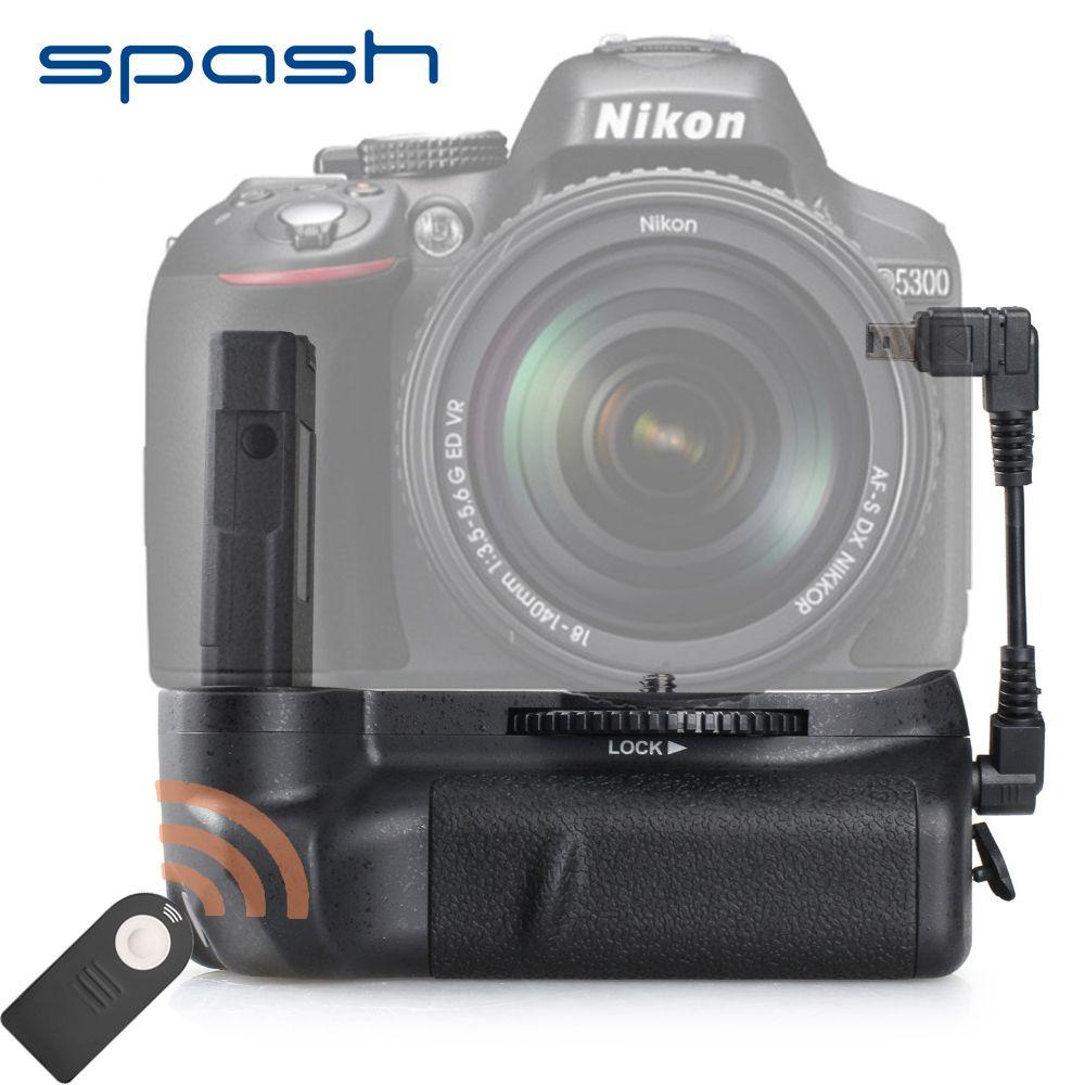 Spash Vertical Batterie Grip pour NIKON D5100 D5200 D5300 DSLR Caméra Multi-Puissance Caméra Batterie Titulaire Accessoires Télécommande