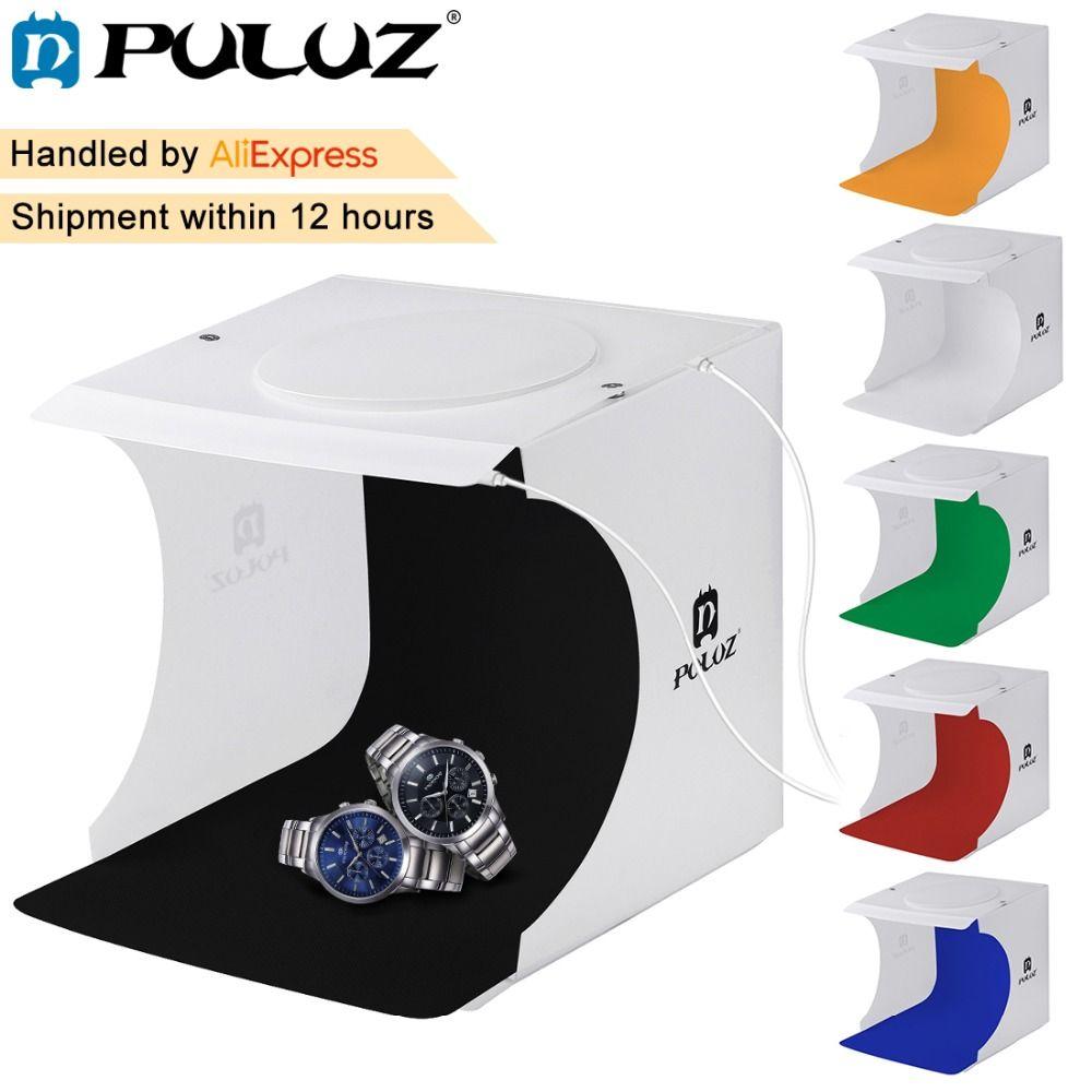 PULUZ 82LED Panels Folding Portable Photo Video Box Lighting Studio Shooting <font><b>Tent</b></font> Box Kit Emart Diffuse Studio Softbox lightbox