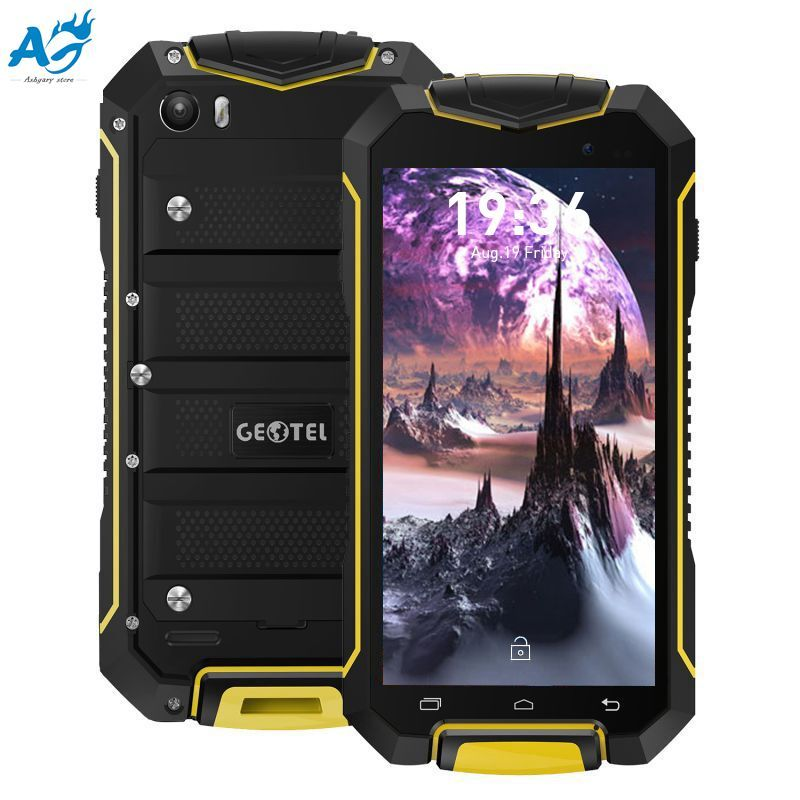 GEOTEL A1 Smartphone 4.5 Inch Android 7.0 Original 3G Cell Phone Mobile Phone IP67 Waterproof MTK6580 1.3GHz Quad Core 1G+8G