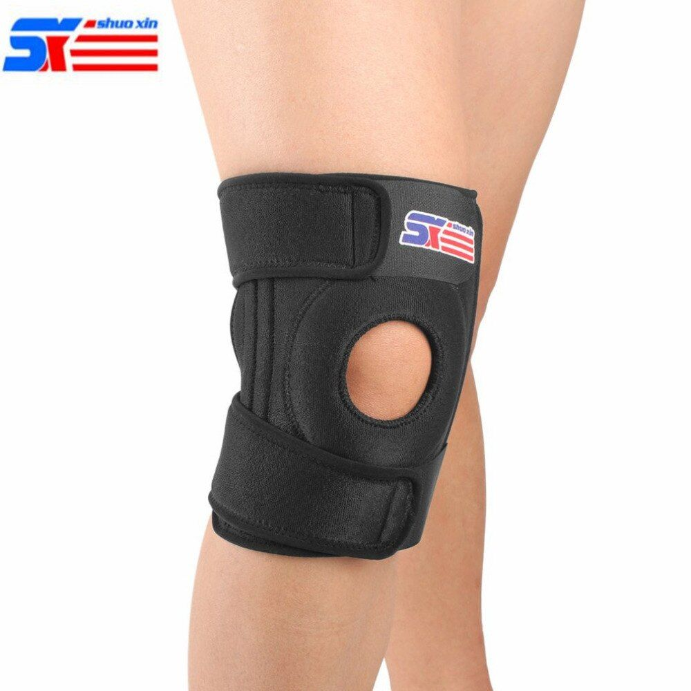 Adjustable 4 Springs Elastic Knee Support Brace Kneepad Professional Sports Kneepad Safety Guard Strap For Running