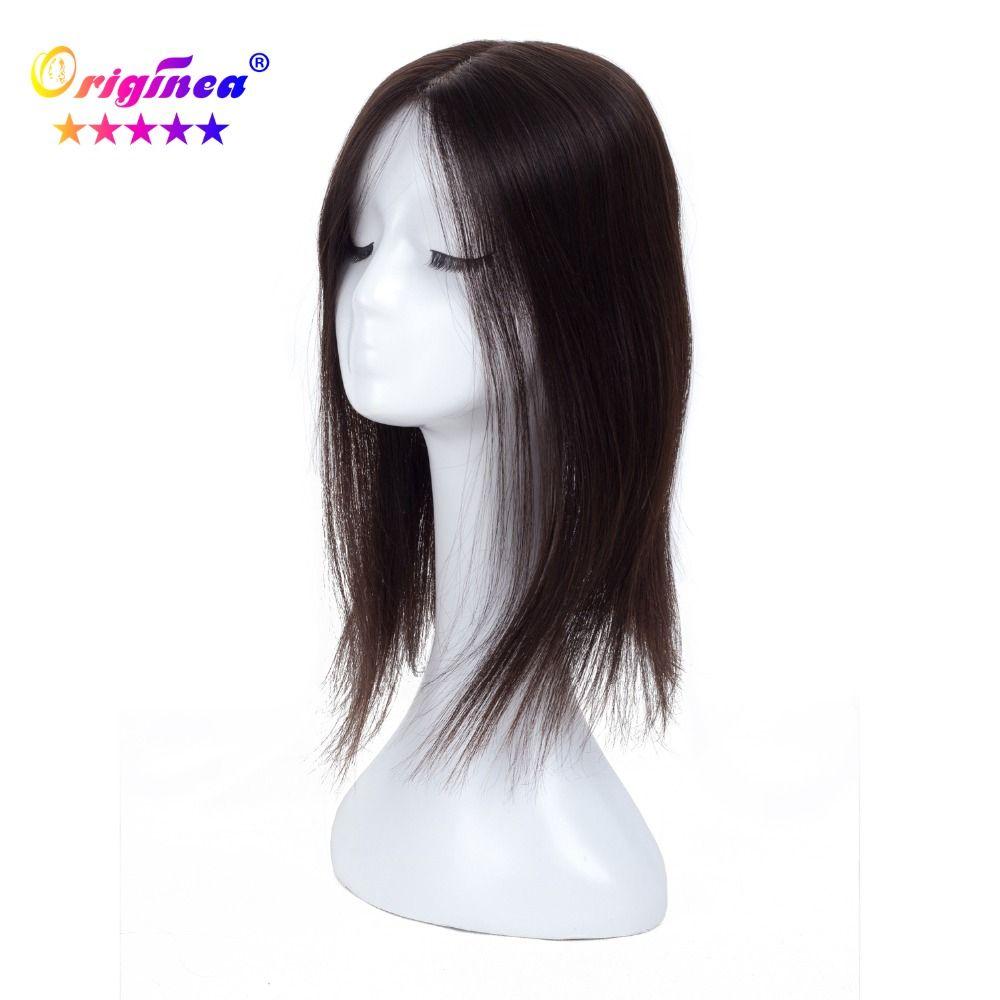 Originea Women's Toupee Net Base Size 13*15 cm Hair Length 16 inch 40 cm 100% Human Hair Toupee Replacement System Natural Color