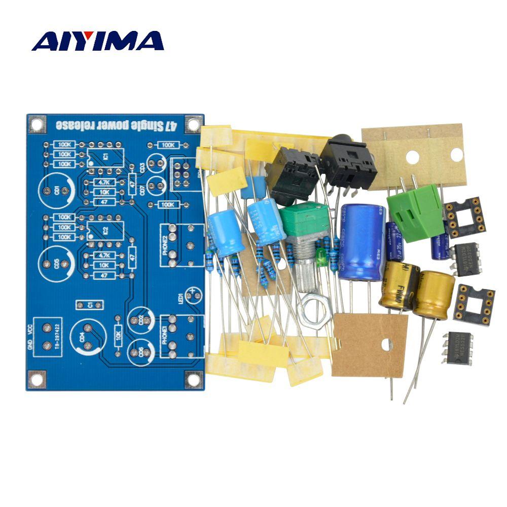 Aiyima 47 Headphone Amplifier Portable AMP Kits for Audiophile HIFI DIY Single power