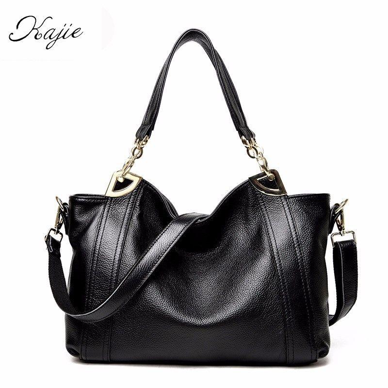2018 Fashion Women Shoulder Bags High Quality Female Bag Large Capacity Genuine Leather Luxury Handbags Designer Ladies Bags