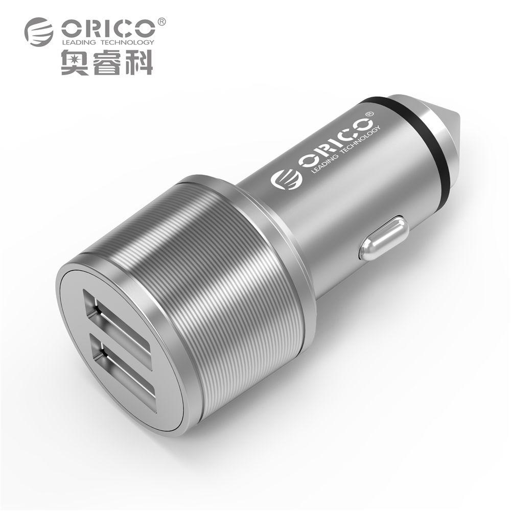 ORICO UCI-2U En Aluminium 2 Ports 5V2. 4 MAX Sortie 15.5 W Mini Portable USB Voyage Chargeur Aussi Une Sécurité marteau-Argent/Or/Brun
