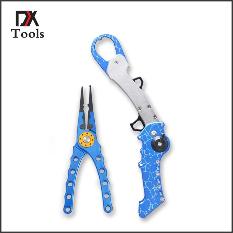 Tragbare Angeln Lippengriff Zange Aluminium Werkzeuge Ausrüstung Erfassen Mist Angeln Greifer Haken Remover Schere Zubehör Angelgerät
