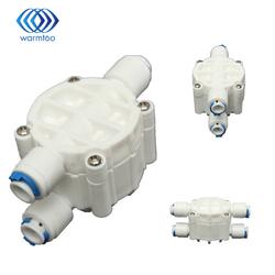 Alta calidad 4 way 1/4 puertos apagado automático Válvulas para ro sistema de filtro de agua de ósmosis inversa