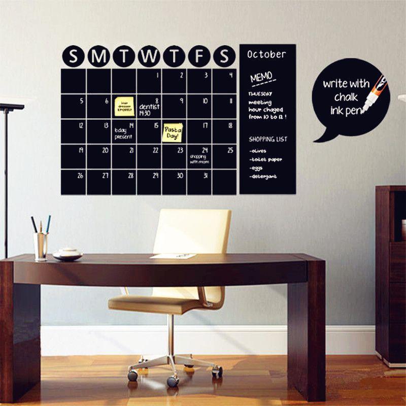 Tableau calendrier décalcomanies tableau craie mur autocollant décoration de la maison vinyle mur décalcomanie salon ou autre lieu mur Art décor