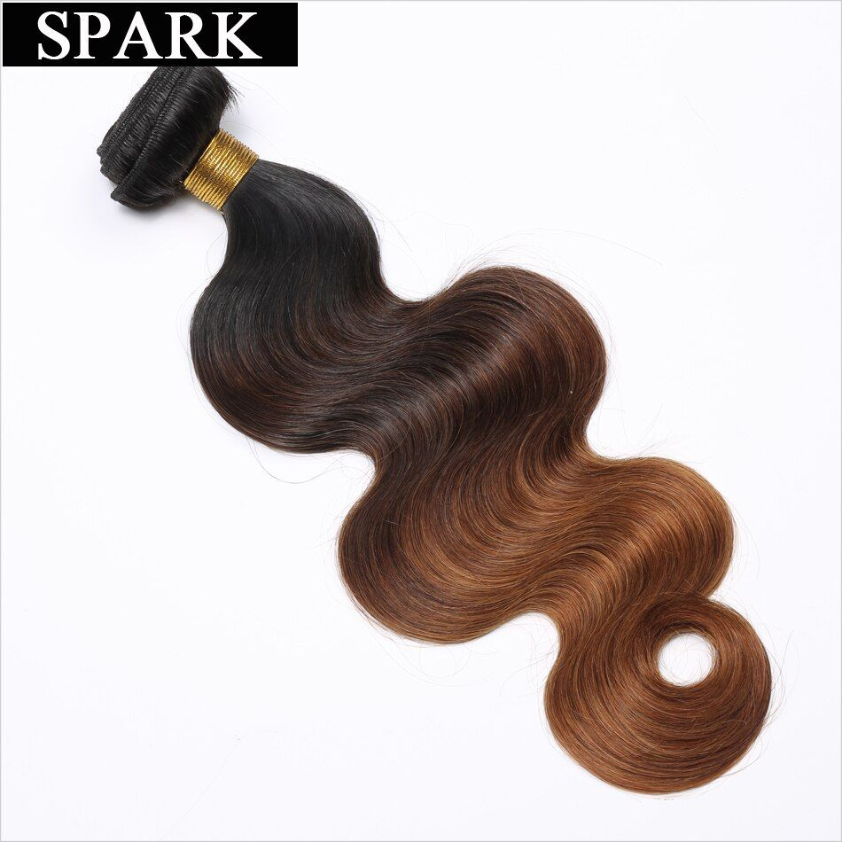 Spark Hair 3 Tone Ombre Brazilian Body Wave Hair T1B/4/30 100% Human Hair Weave Bundles 12-26 inches Remy Hair Extensions