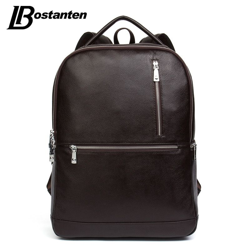 BOSTANTEN 2017 Designer Genuine Leather Men's Backpacks Bolsa Mochila for Laptop Notebook Computer Bags Men School Rucksack