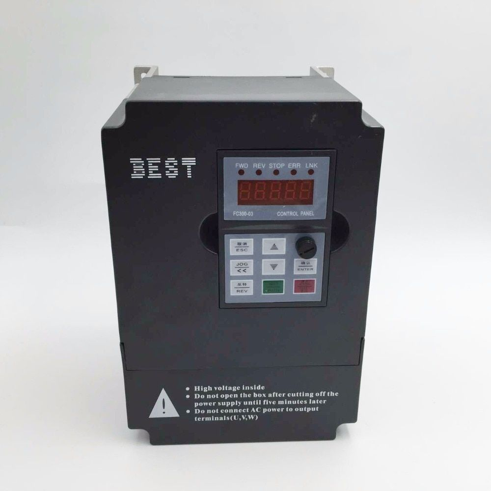 New 2.2kw 3HP VFD Variable Frequency Drive Inverter Single-phase 220V 0-1000Hz 11A for 2.2KW CNC Engraving Spindle Motor