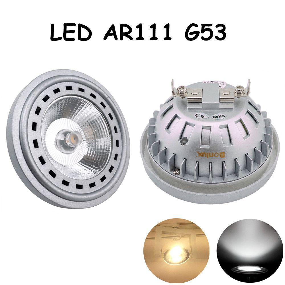 LED AR111 G53 12 W AC 12-24 V Ampoule CREE COB Puce Led G53 Spotlight Ampoule avec 75-100 W Halogène Équivalent
