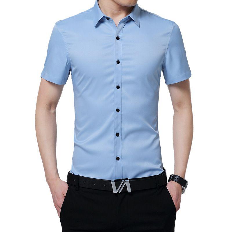 Herbst 2018 neue männer lange-sleeve shirt männer slim körper keine bügeln Europäischen und Amerikanischen baumwolle hemd männer heißer verkauf shirts