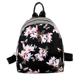 HTNBO Women Feather Printing Backpacks Teenager Girls Travel Backpack Soft School Bag Rucksack Autumn Female Backpacks Mochilas