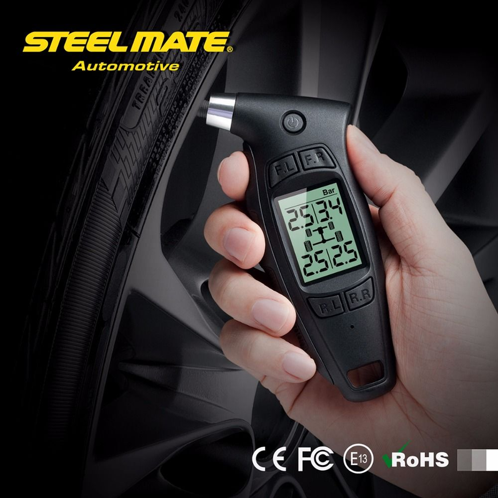 Clear Stock Steelmate TPMS TC-01 Handheld Car Digital Tire Pressure Gauge 1.6