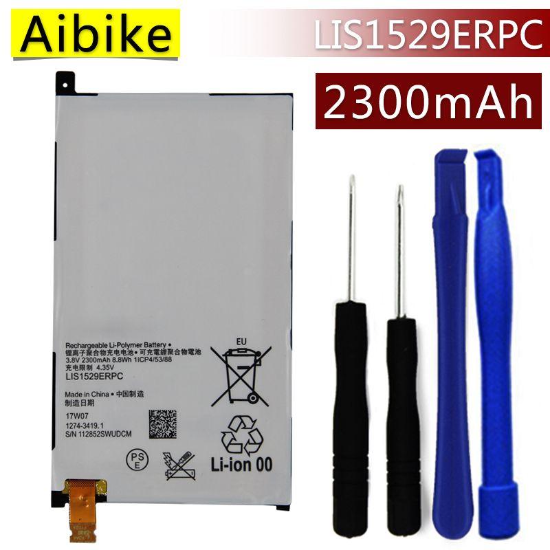 LIS1529ERPC Aibike Nueva batería original del teléfono móvil Para Sony Xperia Z1 mini Compacto M51w D5503 Xperia Z1 Batería 2300 mAh Real