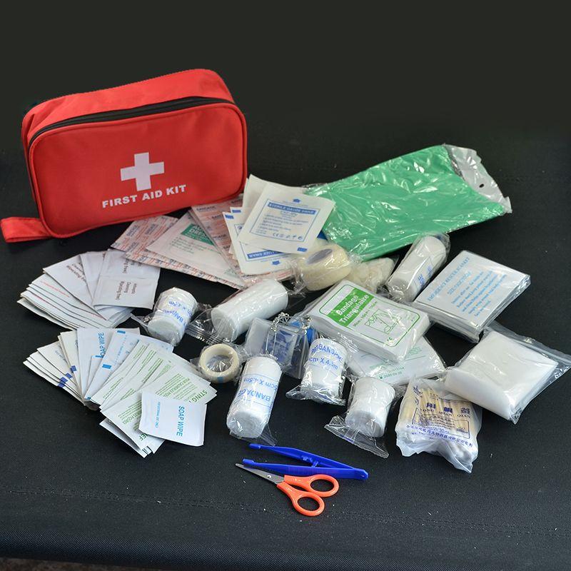 180 pcs/pack trousse de premiers soins de voyage en toute sécurité Camping randonnée trousse d'urgence médicale Pack de traitement ensemble de survie en plein air en milieu sauvage