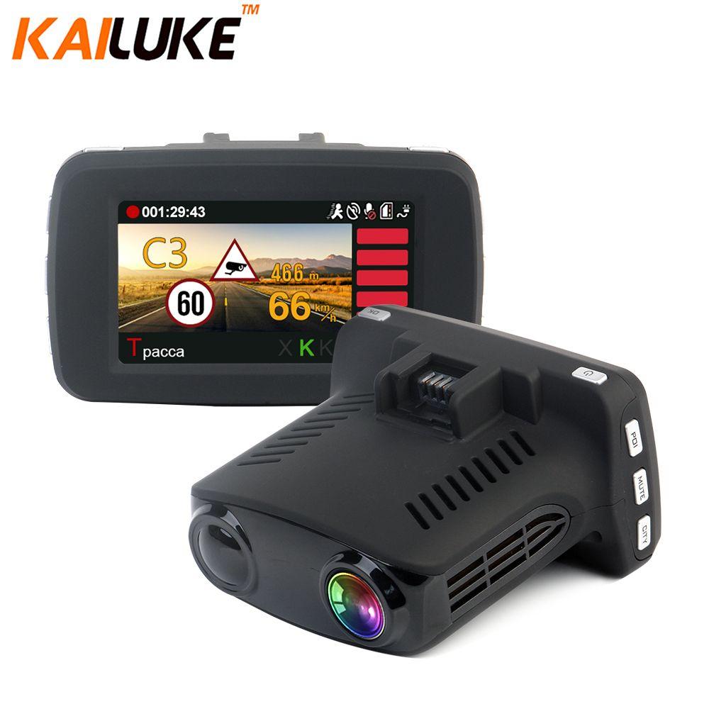 KAILUKE Ambarella A7LA50 GPS Radar Car Camera Car DVR Radar Detetor DVRS Speedcam HD 1296P WDR Night Vision Dash Cam BlackBox