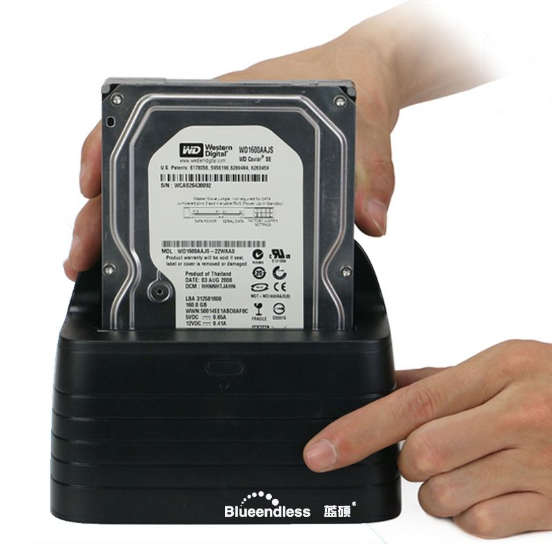 Envoyer de La Russie 1 Bay USB3.0 à sata hdd dock station hot swap costume pour 2.5 ''3.5'' dur disque dock station pour PC ordinateur portable