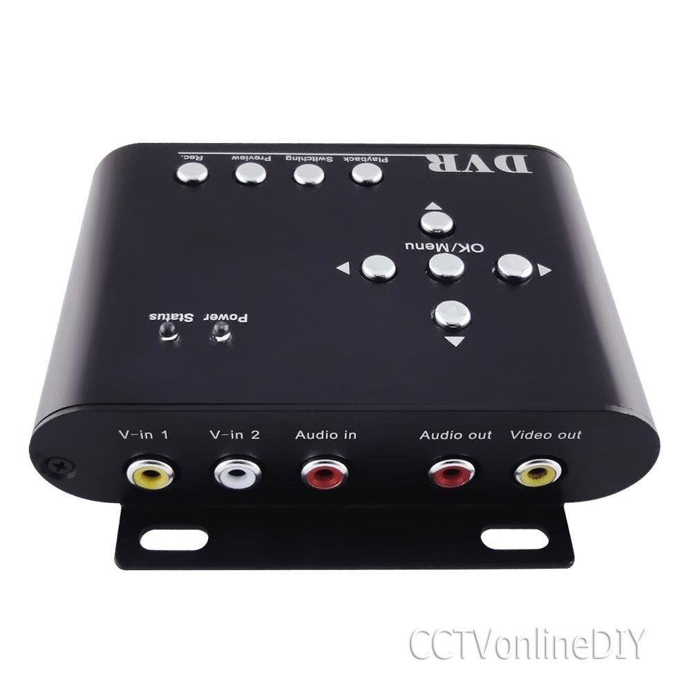 ANSHILONG 2Ch Mini Sd-karte Auto DVR Mobile DVR mit Audio-aufnahme und Bewegungserkennung