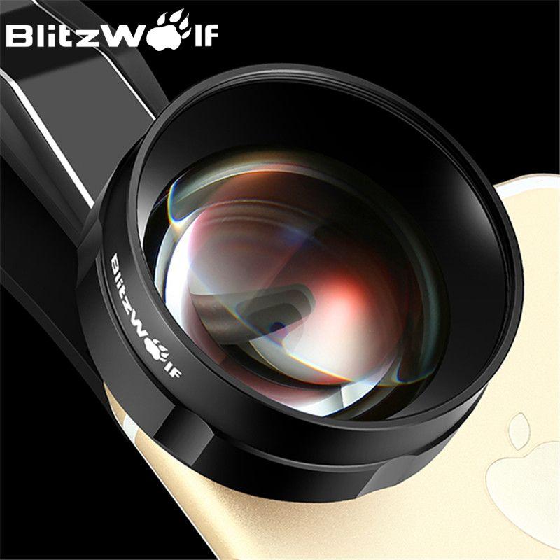 BlitzWolf Fish Eye Téléphone portable Caméra Lentille Optique 3X HD Téléobjectif Fisheye Avec Capot Clip Universel Pour iPhone Pour Samsung