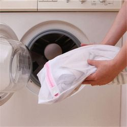 fashion! 9 Sizes Zippered Foldable Nylon Laundry Bag Bra Socks Underwear Clothes Washing Machine Protection Net Mesh Bags