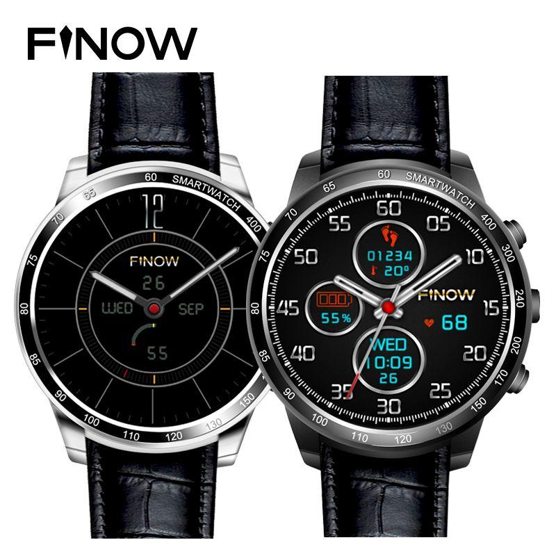 2017 nouveaux appareils portables montre intelligente Finow Q7 plus support 32 GB TF carte Android 5.1 3G Wifi BTfor Android PK KW88 smartwatch
