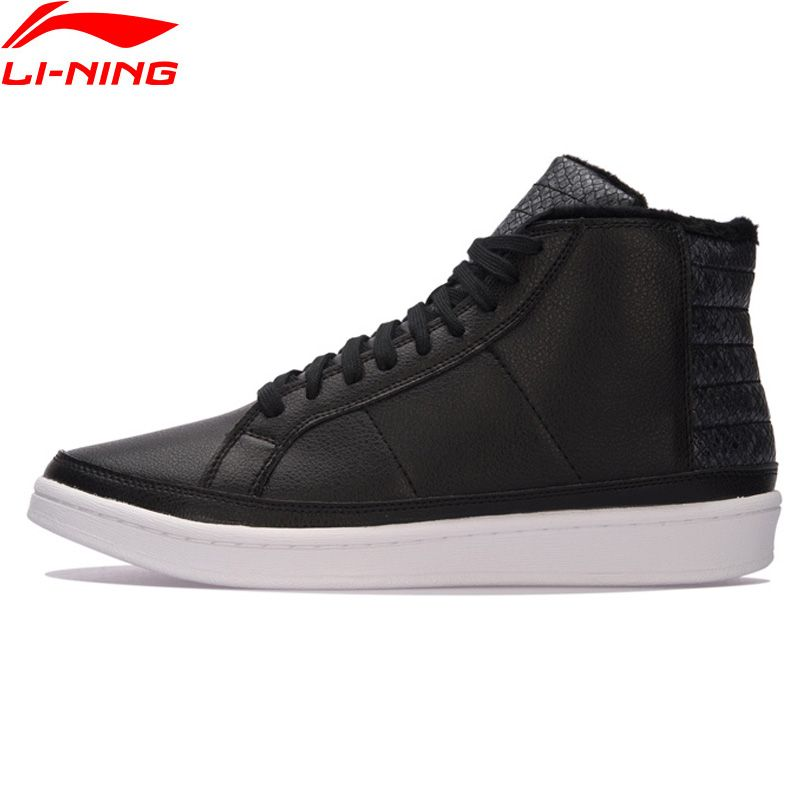 Li-Ning Men COMBAT STYLE Winter Basketball Culture Shoes Warm Plush Wearable Sneakers LiNing Sports Shoes AGBM001 XYL124