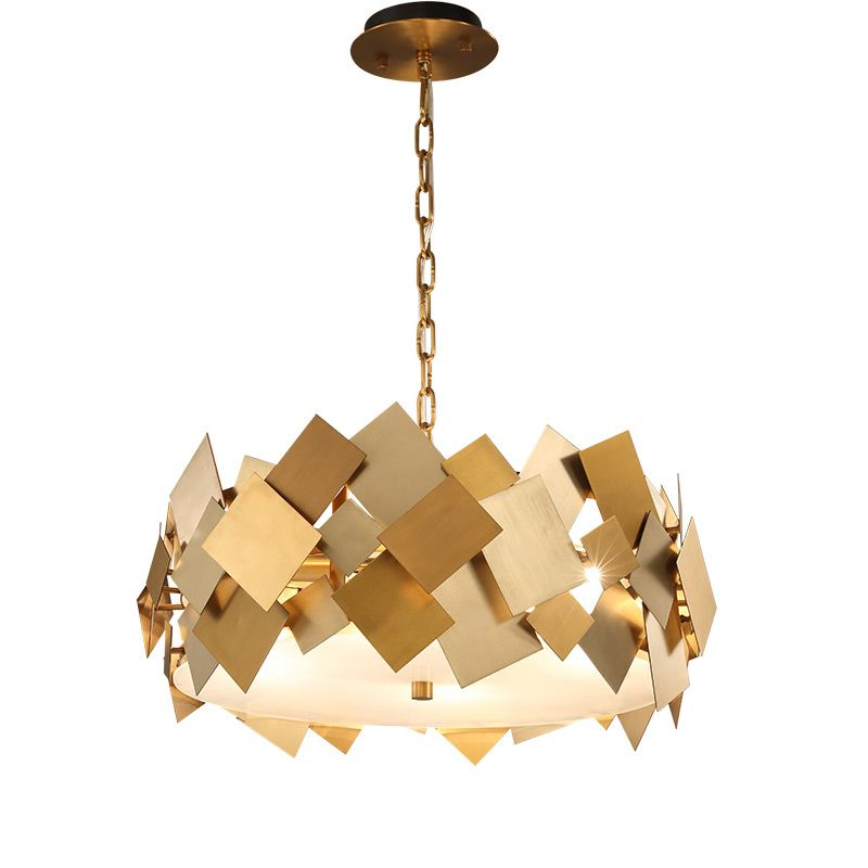 wongshi Modern Gold Hardware Copper Pendant Lamp With E14 Bulbs for For Dining Kitchen Room Foyer Pendant lightings