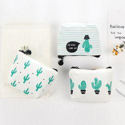 Dibujos Animados pequeños cabritos de las mujeres monedero bolsa de dinero Cactus cambio bolsa titular bolsa