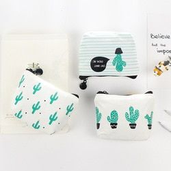Etya 1 шт. маленькие милые дети Для женщин Портмоне кошелек Портмоне деньги мешок кактус изменить чехол сумка держатель для ключей