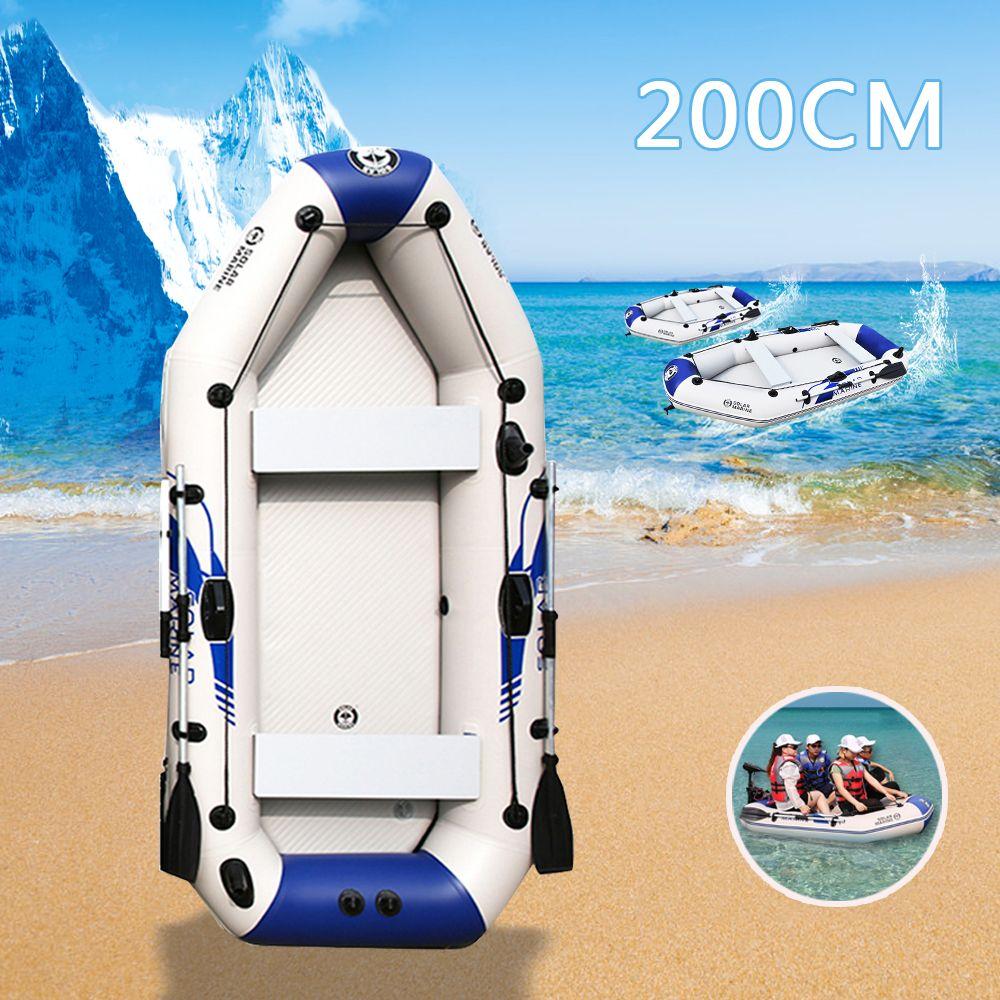 200 cm 2-3 Personen Schlauchboote Boot PVC Material Professionelle Aufblasbare Laminiert Tragen-Beständig Fischerboot Mit Ruder pumpe