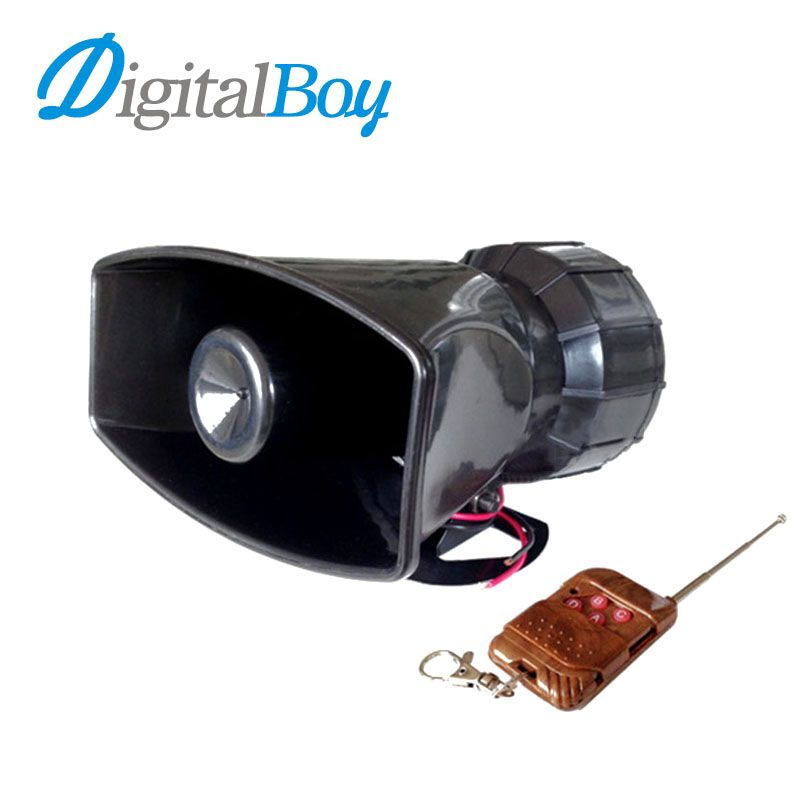 Digitalboy Brand New DC 12V 100W Auto Car 7 Tone Siren Loud Horns Vehicle Motorcycle Wireless Remote Control Alarm Horn