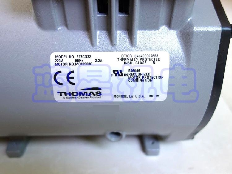 Mini Vacuum Pump Thomas AC Oil Free Vacuum Pump 617CD32