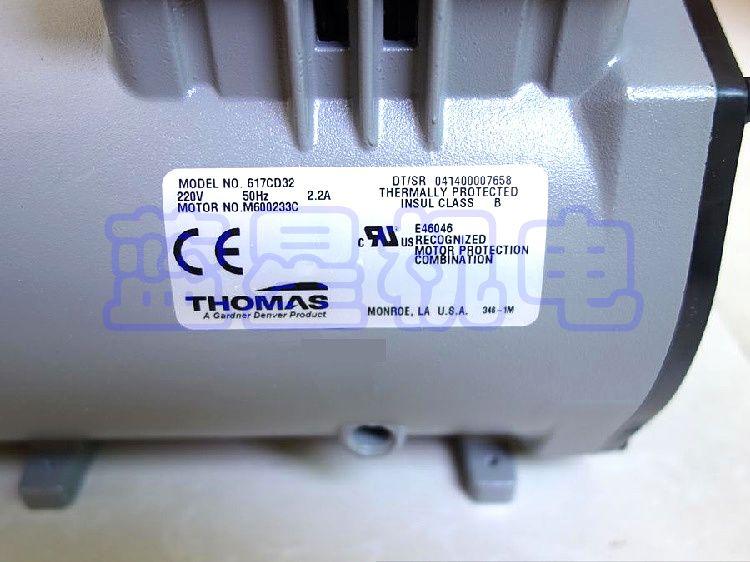 Mini Vacuum Pump Thomas AC Oil Free Vacuum Pump 617CD32
