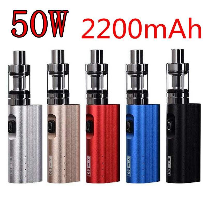 50 Вт электронные сигареты Box mod kit 2200 мАч Перезаряжаемые Батарея кальяна пера электронная сигарета комплекты вапоризатора VAPE кальян